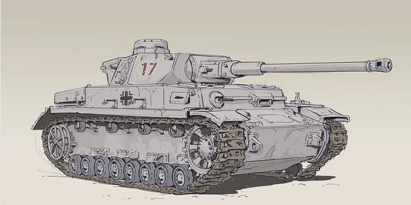ドイツ戦車 3号戦車 第二次世界大戦 イラスト